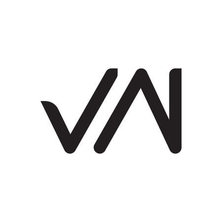 vn initial letter vector logo icon