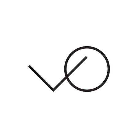 vo initial letter vector logo icon Ilustração