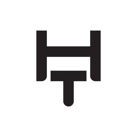 ht initial letter vector logo icon Logó
