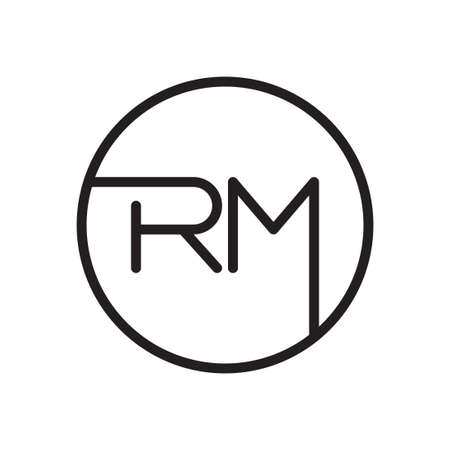 rm initial letter vector logo icon