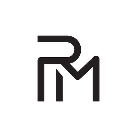 rm initial letter vector icon