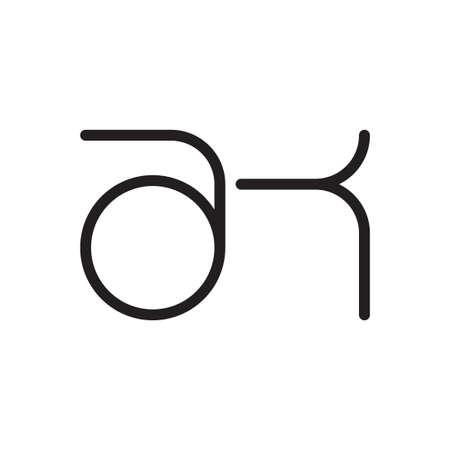 ak initial letter vector logo icon Logo