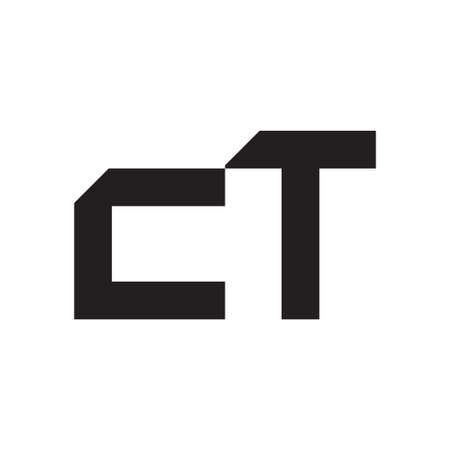 ct initial letter vector logo icon