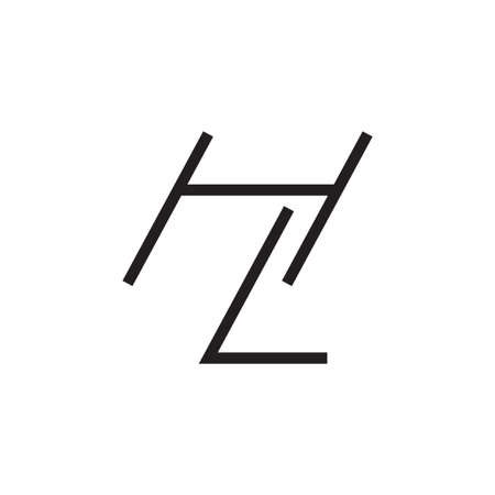 hl initial letter vector logo icon