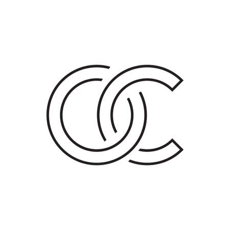 oc initial letter vector logo icon