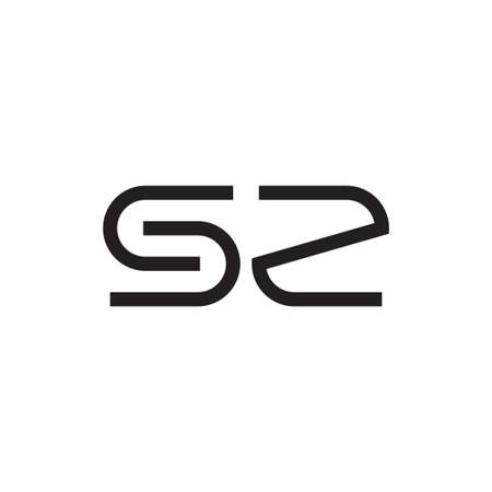sz initial letter vector logo icon