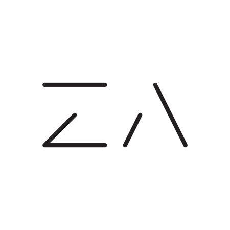 za initial letter vector logo icon