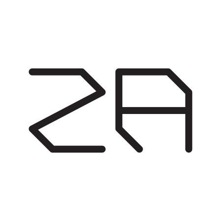 za initial letter vector logo icon Logo