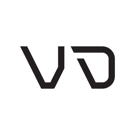vd initial letter vector logo icon
