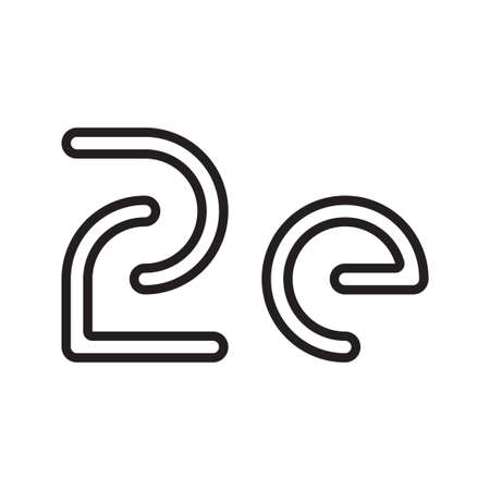 ze initial letter vector logo icon