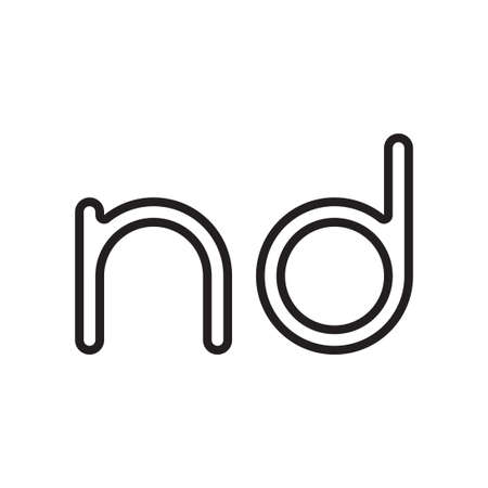 nd initial letter vector logo icon