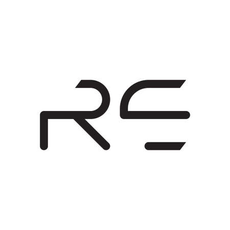 re initial letter vector icon