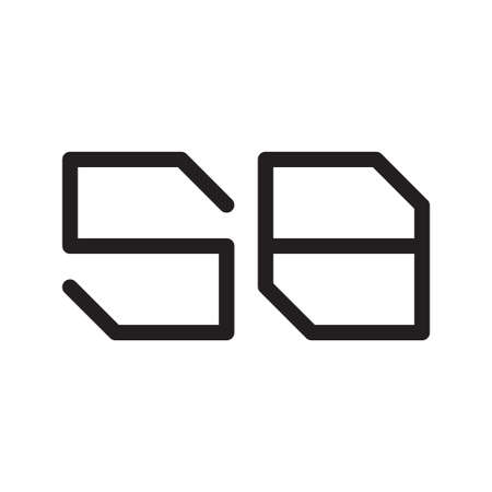 sb initial letter vector logo icon