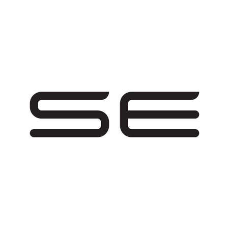 se initial letter vector logo icon