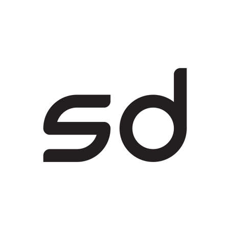 sd initial letter vector logo icon