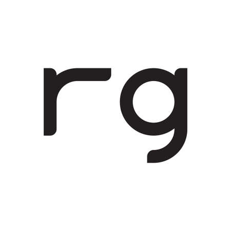 rg initial letter vector logo icon
