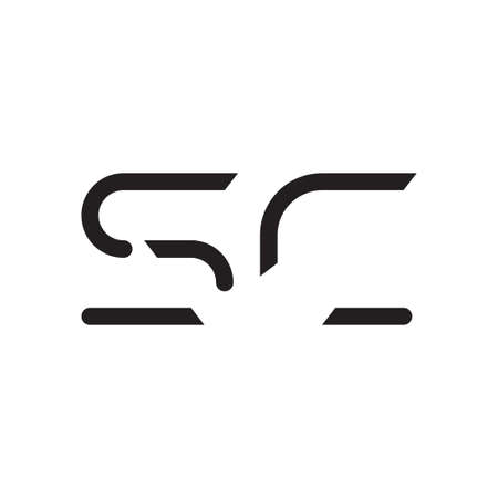sc initial letter vector logo icon Çizim