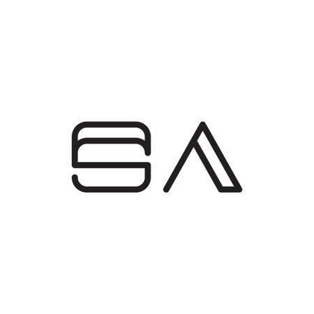 sa initial letter vector logo icon