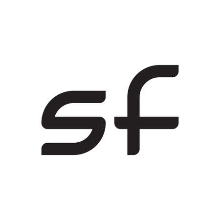 sf initial letter vector logo icon