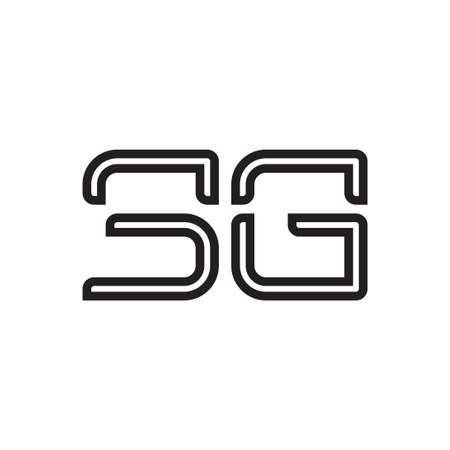 sg initial letter vector logo icon