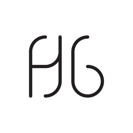 hg initial letter vector logo icon