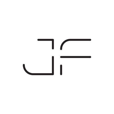 jf initial letter vector logo icon Ilustração
