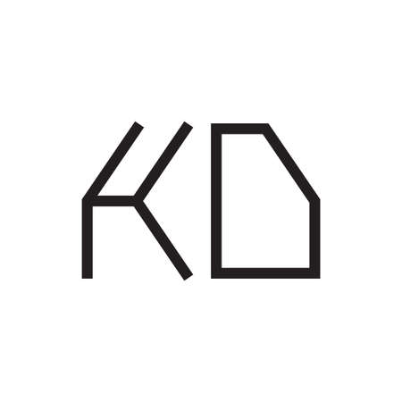 kd initial letter vector logo icon
