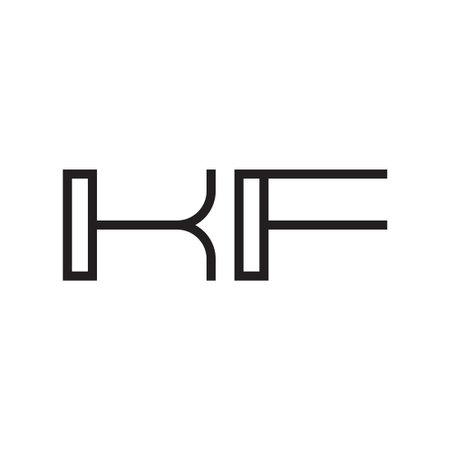 kf initial letter vector logo icon Ilustração