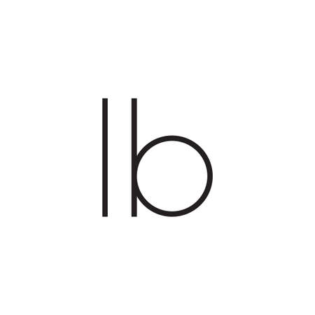lb initial letter vector logo icon