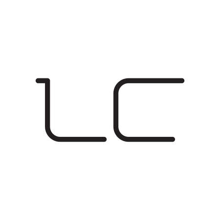 lc initial letter vector logo icon