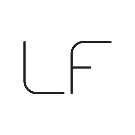 lf initial letter vector logo icon