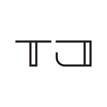 tj initial letter vector logo icon