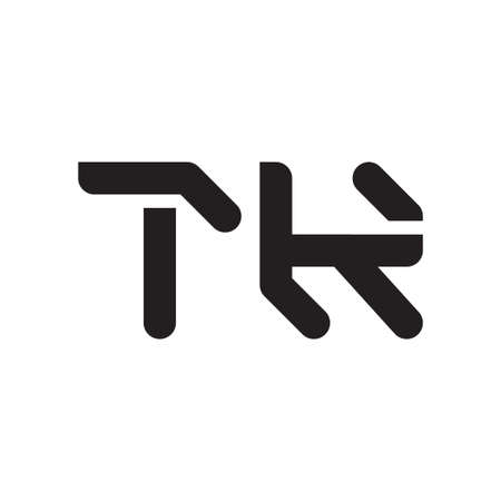 tk initial letter vector logo icon