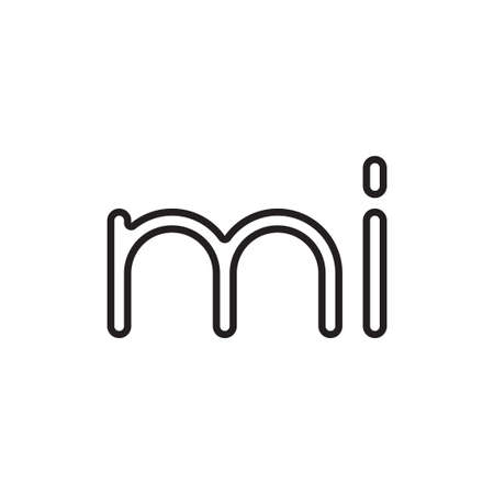 mi initial letter vector logo icon