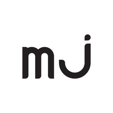 mj initial letter vector logo icon
