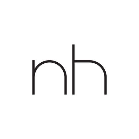 nh initial letter vector logo icon