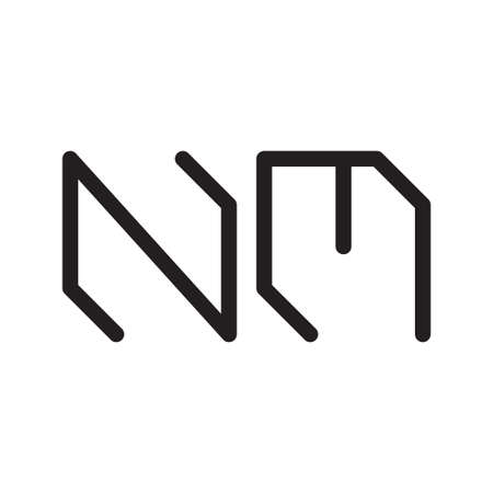 nm initial letter vector logo icon
