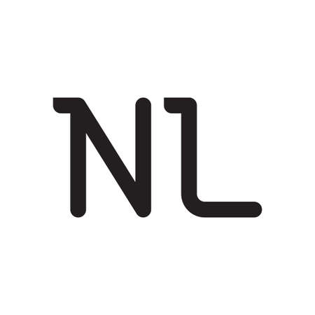nl initial letter vector logo icon