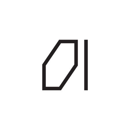 oi initial letter vector logo icon