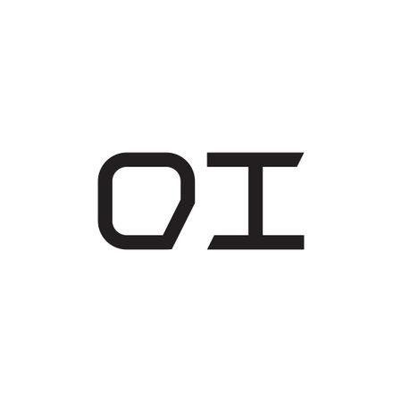 oi initial letter vector logo icon Logo