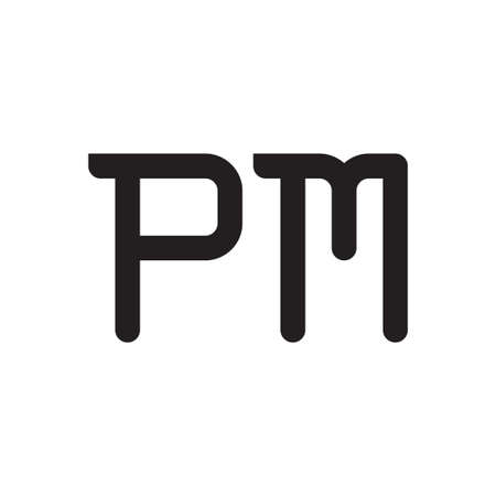 pm initial letter vector logo icon