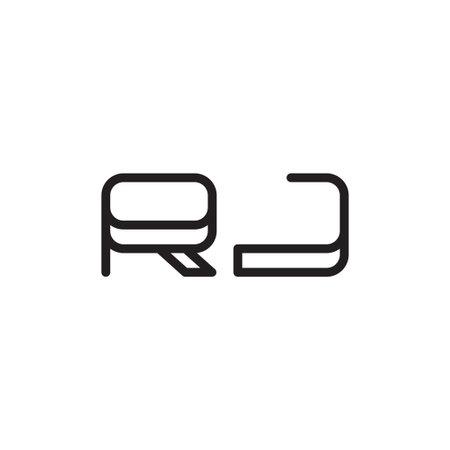 rj initial letter vector logo icon
