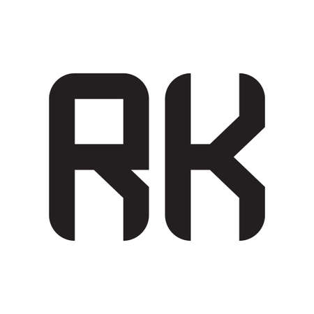 rk initial letter vector logo icon