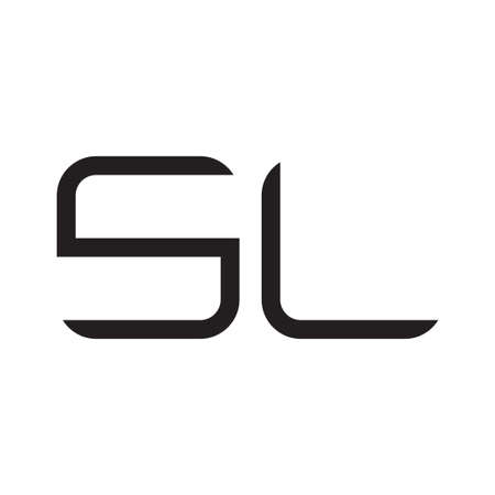 sl initial letter vector logo icon