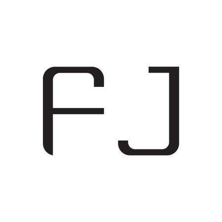 fj initial letter vector logo icon