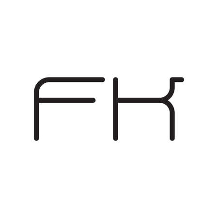 fk initial letter vector logo icon