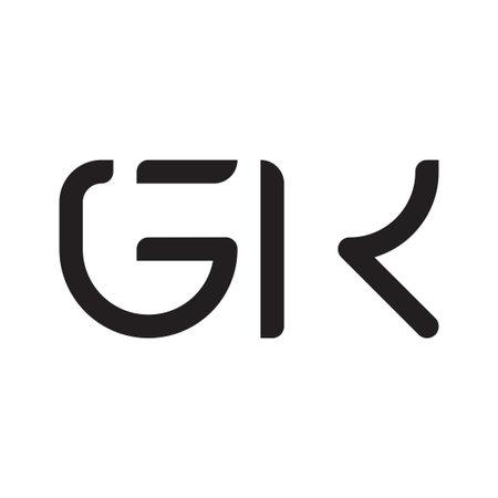 gk initial letter vector logo icon Logó