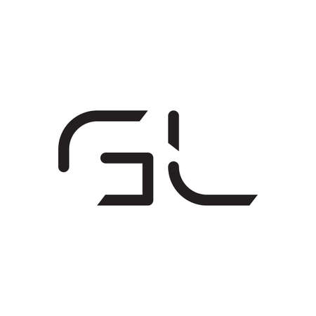 gl initial letter vector logo icon Logó