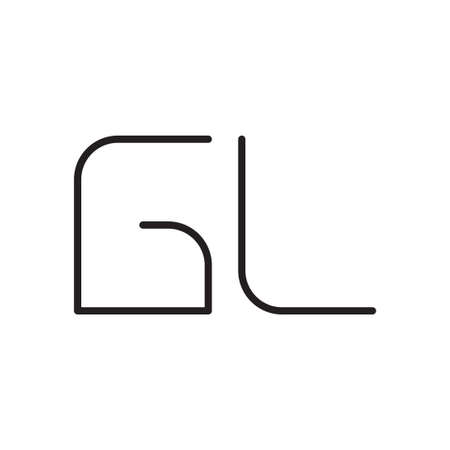 gl initial letter vector logo icon
