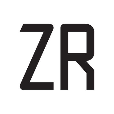 zr initial letter vector logo icon